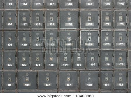 Postboxes of an apartment house