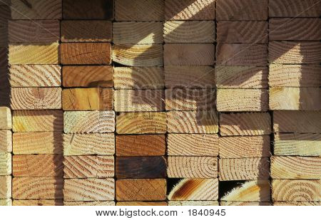 Stack Of Construction Wood