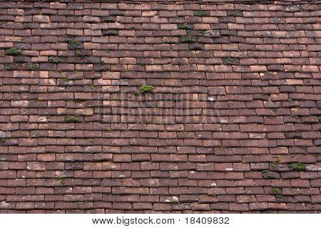 vintage roof, wooden tiles