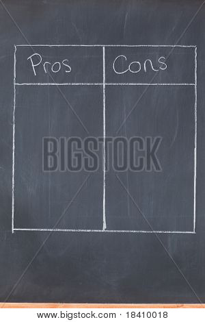 Table Opposing Pros And Cons