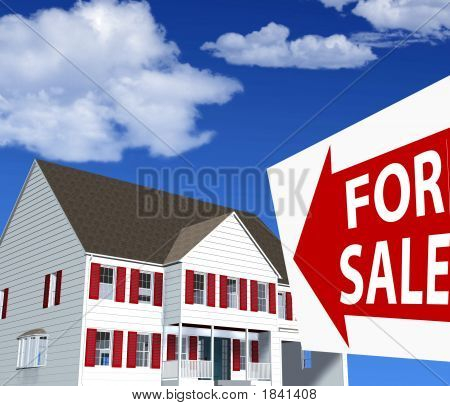 Home For Sale Sign Illustration