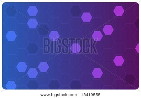 Vector blue abstract hi-tech illustration for science or business background