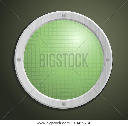 Vector illustration of old circular radar