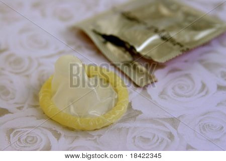 A condom with it's package