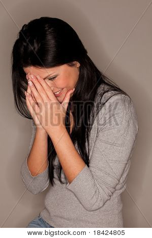 Attractive Woman Chuckling