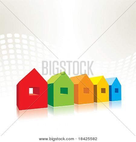 Small vector houses