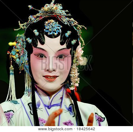 Pretty Chinese Opera Actress