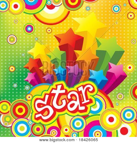 Vector Funky Stars