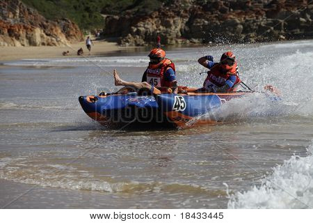 Extreme Semi Rigid Boat Race On Ocean