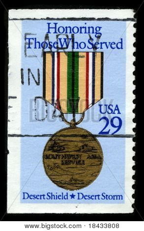 USA - CIRCA 1980: A stamp printed in USA shows image of the dedicated to the Honoring Those Who Served circa 1980.
