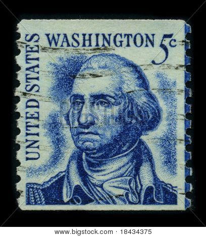 USA - CIRCA 1950: A stamp printed in USA shows image portrait George Washington (1732 -1799), was the first president of the United States (1789 -1797), circa 1950.