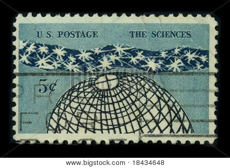USA - CIRCA 1960: A stamp dedicated to the Science is an enterprise that builds and organizes knowledge in the form of testable explanations and predictions about the natural world, circa 1960.