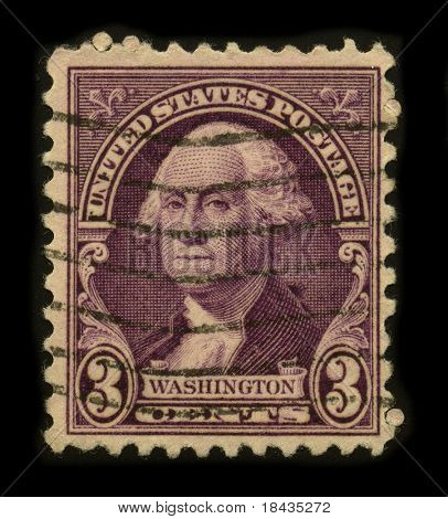 USA - CIRCA 1932: A stamp printed in USA shows image portrait George Washington (1732-1799), was the first president of the United States (1789-1797), circa 1932.