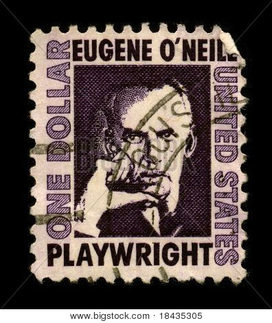 USA - CIRCA 1980: A stamp printed in USA shows portrait Eugene Gladstone O'Neill (16 October 1888 - 27 November 1953) was an American playwright, circa 1980.