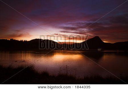 Surise On A Lake In Colorado