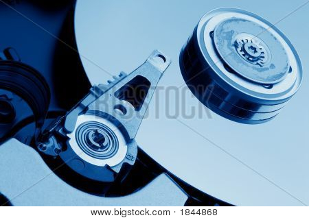Hard Drive In Blue