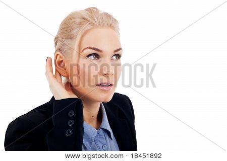Business Woman Listening