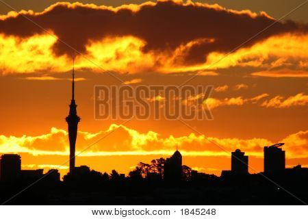 Amazing Sky Tower Sunset