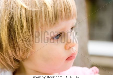 Curious Little Female Toddler.