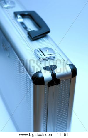 Metal Blue Briefcase