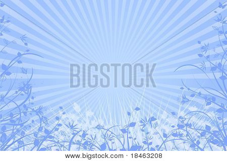 blue nature abstract background