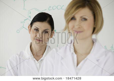 Cute Women In Front Of A White Board