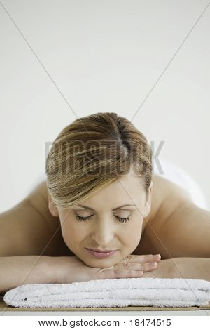 Blond-haired Woman Relaxing