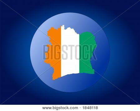 Ivory Coast Globe