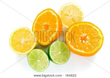 Pile Of Wet Citrus