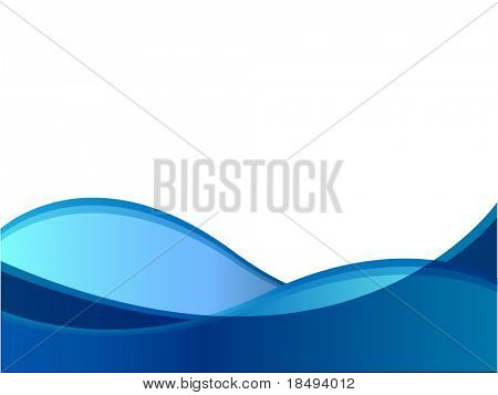 Blue wave against a white background.