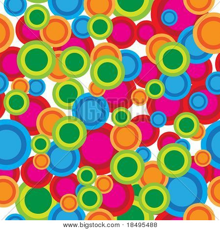 Vector - Seamless retro pattern, can be tiled together to form a continuous background.