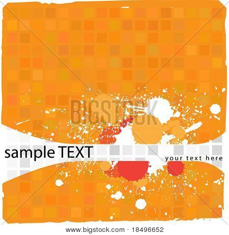 Vector - Illustration of a tiled background with messy grunge ink splat