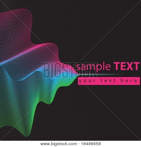 Vector - Illustration of a colorful wave pattern grid lines for background use