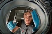 plumber repair laundry machine