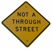 Not A Through Street