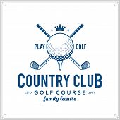 Golf Country Club Logo poster