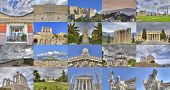 stock photo of socrates  - ancient and classical buildings in Athens Greece - JPG