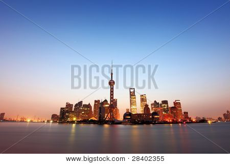 shanghai with sunrise