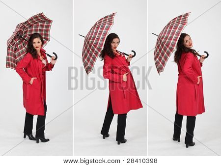 a woman and an umbrella