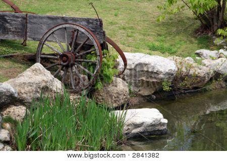 Viejo desglosada Wagon