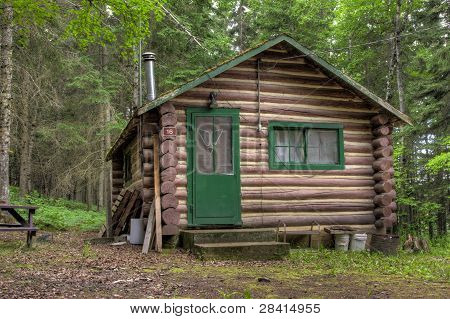 Rustic Old Log Cabin