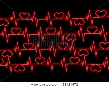 Cardiogram. 3D Abstract Image