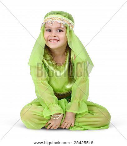 Child Girl Dressed Arabian