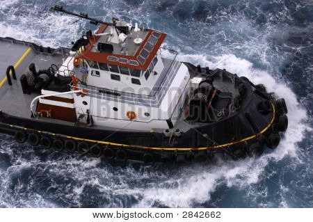 Tugboat In The Caribbean - See More In Portfolio