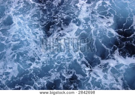 Churning Caribbean Ocean Water - See More In Portfolio