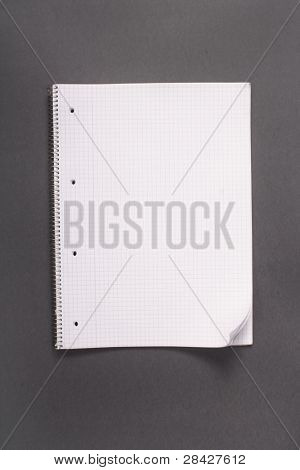 Basic notebook as a background