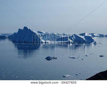 Icebergs Ilulissat South Coast, Greenland.