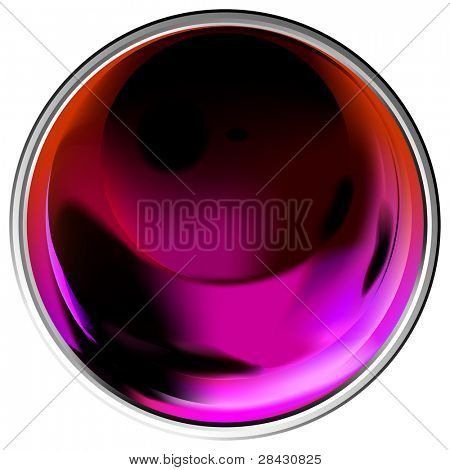 Colored transparent sphere. This image is a vector illustration and can be scaled to any size without loss of resolution.