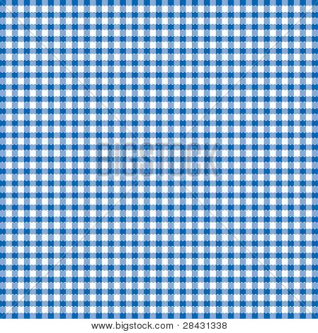 Blue and white popular background pattern for picnics