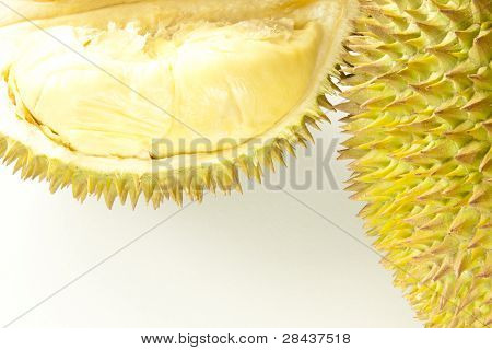 Closeup of fresh durian fruit